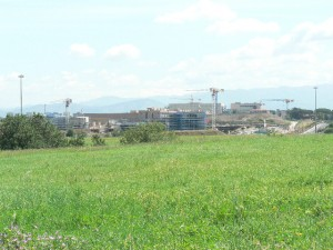 Foto del 2008, una veduta, da Carcaricola, del Campus dell'Università di Torvegata