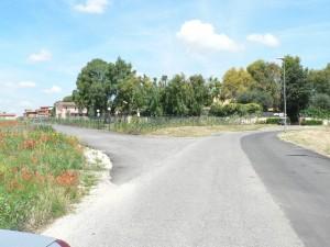 Foto del 2008, via Francesco Tensi, altra vista dove era ubicata la Tenuta di Parmigiani.
