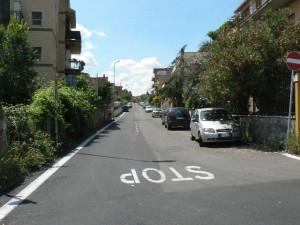 Foto del 2008, altra vista di via Carcaricola.