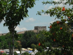 Foto del 2008, altra veduta della Torre del Castello da Largo San Gaudenzio