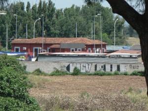 Foto del 2008, ex Dazio visto dal Ninfeo di Beatrice Cenci.