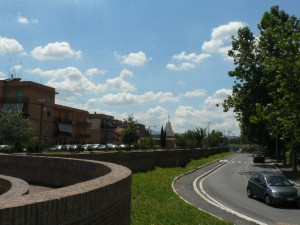Foto del 2008, via della Tenuta di Torrenova.