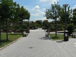 Foto del 2008, i giardini pubblici da via Carlo Santarelli.