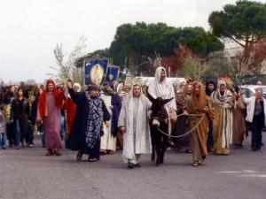 Foto del 2008, mostra una rappresentazione religiosa.