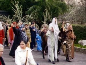 Foto del 2007, altro momento della rappresentazione religiosa.