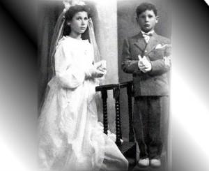Foto del 1954, Erminio e Rossana MARCHETTI, il giorno della loro prima Comunione
