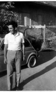 Foto fine anni 60, Francesco Mirruzzo, alle sue spalle la mitica