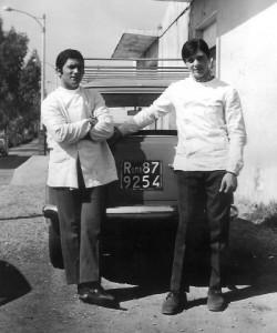 Foto anni 60, via di Torvergata, barberia di Mario Lucarelli.