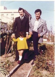 Foto 1970, Felice MAGGI e Erminio MARCHETTI con la piccola Mara.