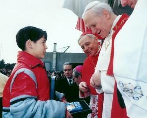 Papa Giovanni Paolo II in visita pastorale a Giardinetti