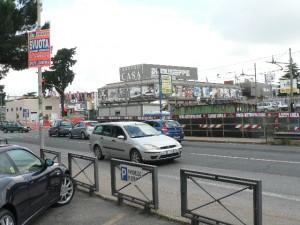 Foto del 2008, via Casilina lavori della nuova Stazione Giardinetti.