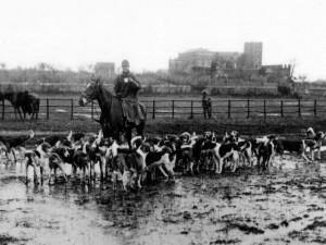 Foto inizi del 1900, altro momento della cacciarella.
