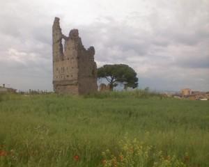 Foto del 2008, particolare delle due Torri, in via dei Ruderi di Torrenova.